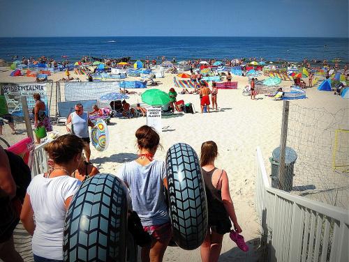 Na plaży w Dziwnowie.