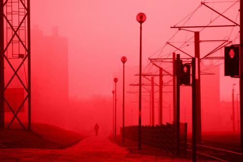 Mgła - czerwony