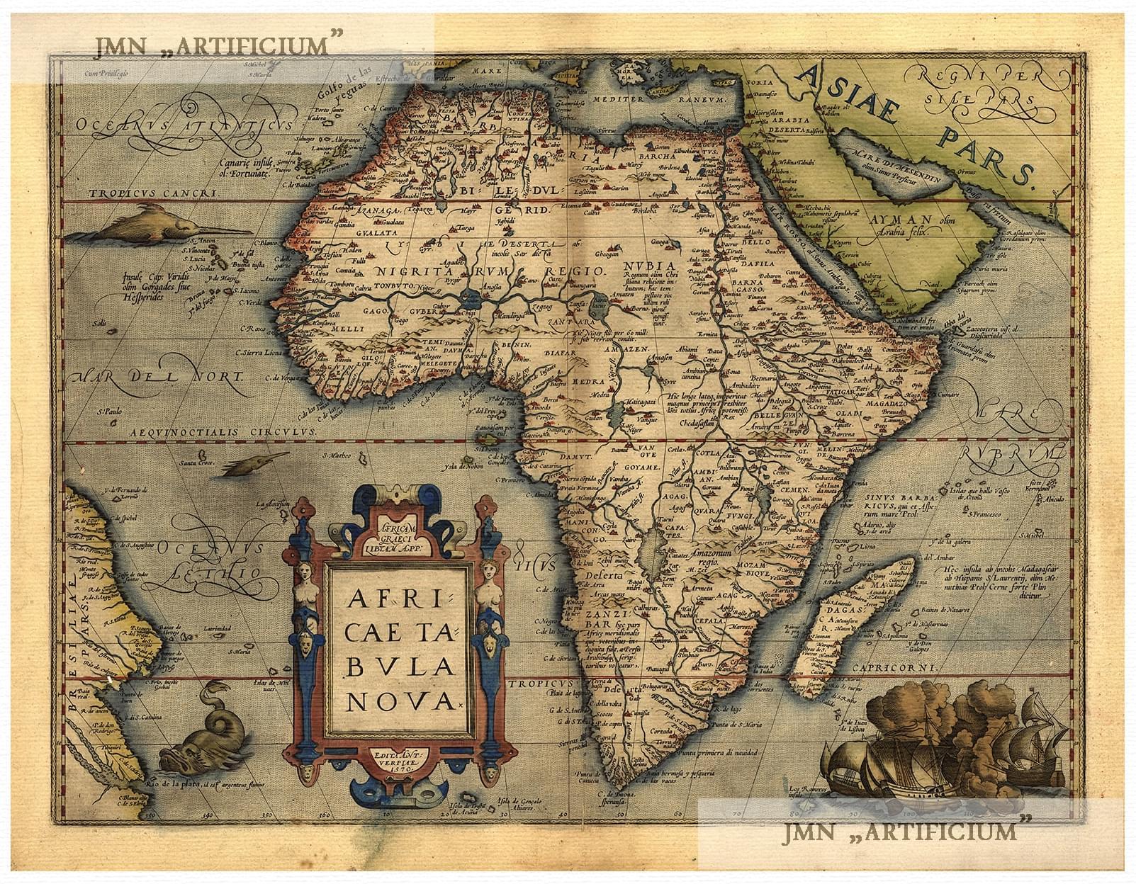 "1600s ""Typus Orbis Terrarum"" Vintage Style Abraham Ortelius Map 24x32"
