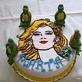 Marta i żółwie ninja #TortyOkolicznościowe #torty #twarz #głowa #head #ninja #ŻółwieNinja #skorupiaki #tort