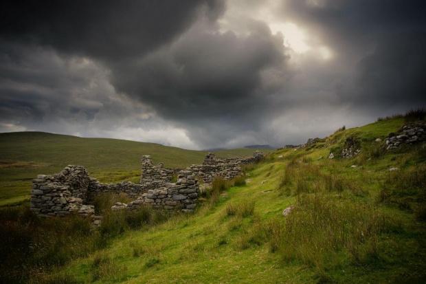 Deserted Village, Achill Island #Clifden #Connemara #Galway #Irlandia #DesertedVillage #AchillIsland