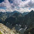 Wysoka, Ganek, Gerlach w oddali - widok z Wagi... #arietiss #góry #krajobraz #panorama #Tatry