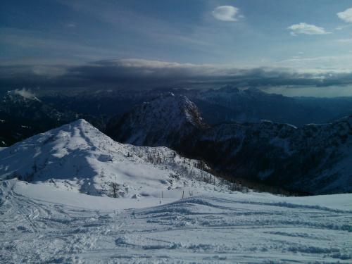 Widok z Madritische #Alpy #Austria #Narty #Nassfeld
