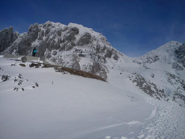 Gartnerkofel, widok na fisowską szóstke i krzesło 4er- SB FIS #Alpy #Austria #Narty #Nassfeld