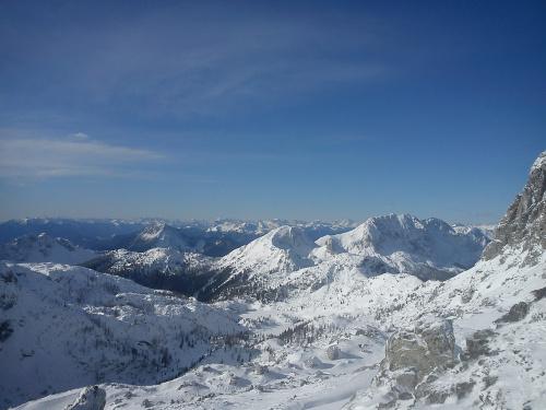 Na Troghohe 2020m - panorama gór #Alpy #Austria #Narty #Nassfeld