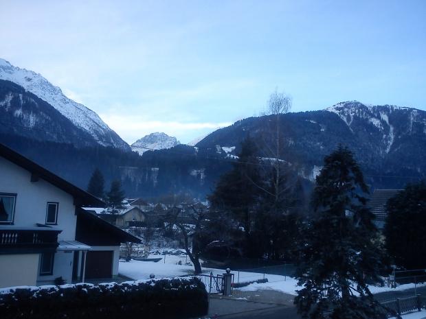 Poranek w Kotschach - Mauten, widok z balkonu #Alpy #Austria #Narty #Nassfeld