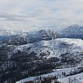 Widok z punktu ciut powyżej platformy na Gartnerkofel #Alpy #Austria #Narty #Nassfeld