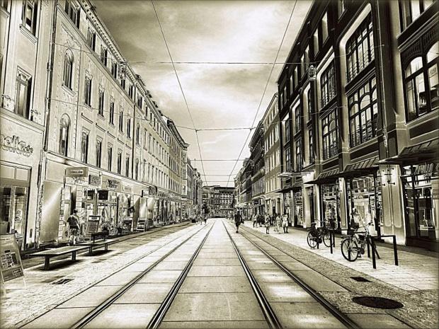 Görlitz. Berliner Straße. Do poczytania: http://www.goerlitz.de/pl/ #Goerlitz #Saksonia #FreistaatSachsen #Niemcy #Deutschland