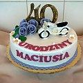 Torcik z motorem dla Maciusia #tort z #motorem #tort #akazjonalny #torty #czterdziestka #motor